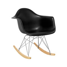 Paris Tower Rocking Chair with Black Seat