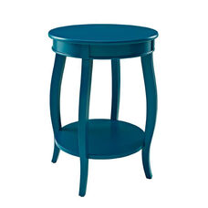 Rainbow Round Table with Shelf - Teal