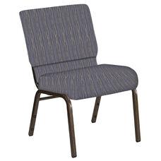 21''W Church Chair in Mystery Hazelwood Fabric - Gold Vein Frame