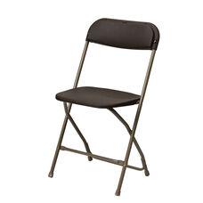 500 lb. Max Brown Poly Performance Folding Chair