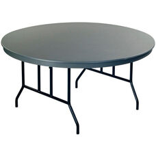 Dyna - Lite ABS Whole Round Plastic Folding Table with Wishbone Legs - 60
