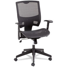 Alera® Epoch Series All Mesh Multifunction Mid-Back Chair - Black