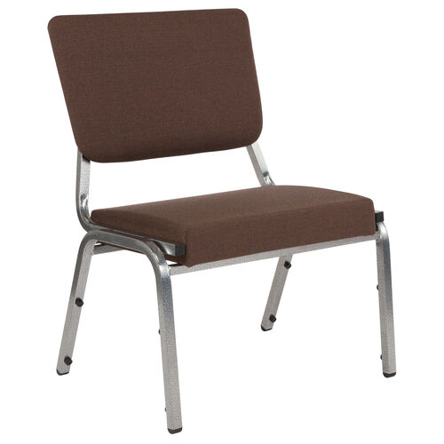 Our HERCULES Series 1500 lb. Rated Brown Antimicrobial Fabric Bariatric Antimicrobial Medical Reception Chair with 3/4 Panel Back is on sale now.