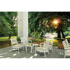 Artemis XL Polypropylene Club Seating Set with 7 Pieces - White