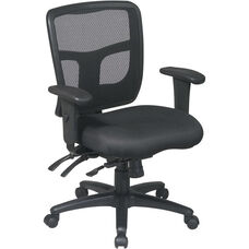 Pro-Line II ProGrid® Back Managers Chair with 2-Way Adjustable Arms and Seat Height Adjustment - Black