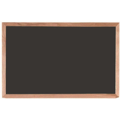 Black Composition Chalkboard with Red Oak Frame and Chalk Tray