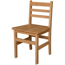 Solid Hardwood Child's Armless Ladderback Chair - 17.88''W x 16.75''D x 33''H