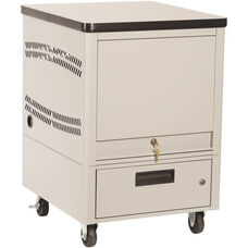 LapTop Depot 5 Capacity Cart - Light Gray
