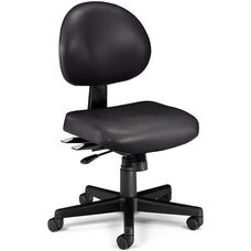 24 Hour Anti-Microbial and Anti-Bacterial Vinyl Task Chair - Black
