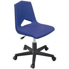 MG Series V-Back Height Adjustable Task Chair with 5 Star Base - Navy Seat - 25
