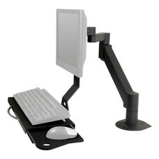 LCD Data Entry Monitor Arm with Flip-Up Keyboard Tray