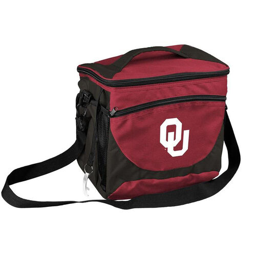 Our University of Oklahoma Team Logo 24 Can Cooler is on sale now.