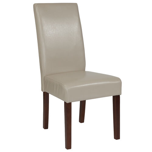 Greenwich Series Beige LeatherSoft Parsons Chair