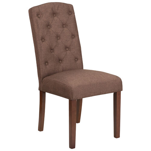 Our HERCULES Grove Park Series Brown Fabric Tufted Parsons Chair is on sale now.