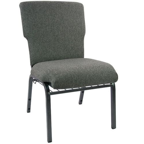 Advantage Charcoal Gray Discount Church Chair - 21 in. Wide