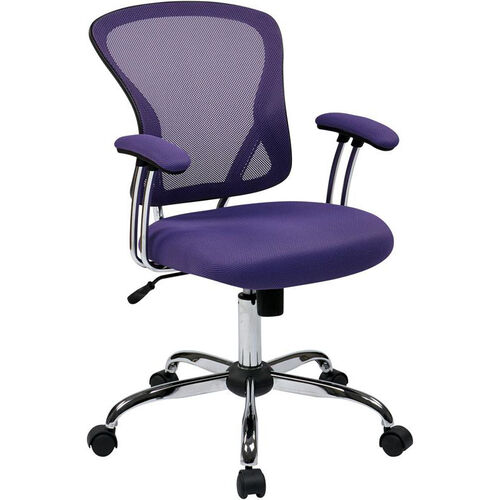 Our Ave Six Juliana Task Chair with Mesh Seat - Purple is on sale now.