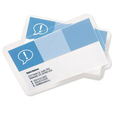 Swingline Heatseal Ultraclear Lam Bus Card Pouches - Pack Of 100