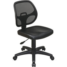 Work Smart Mesh Screen Back Task Chair with Vinyl Seat