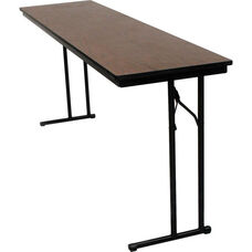 C-Leg Rectangular Training Table with Bumper T Molding and Laminate Top - 24