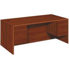 HON® 10500/10700 Series Laminate Desk with Double 3/4 Pedestals - 72