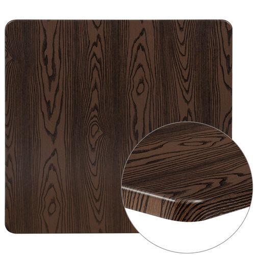 "36"" Square Rustic Wood Laminate Table Top"