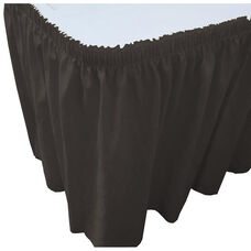 Wave 13 Foot Shirred Pleat Table Skirt with SnugTight™ Clips - Black