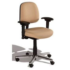 Fusion Medium Back Desk Height Cleanroom ESD Chair - 4 Way Control - Black Vinyl
