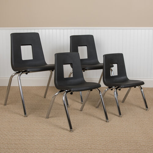 Our Advantage Black Student Stack School Chair - 12-inch is on sale now.