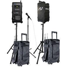 Premium Digital Audio Travel Partner 250 Watt Amplifier PA Package - 23