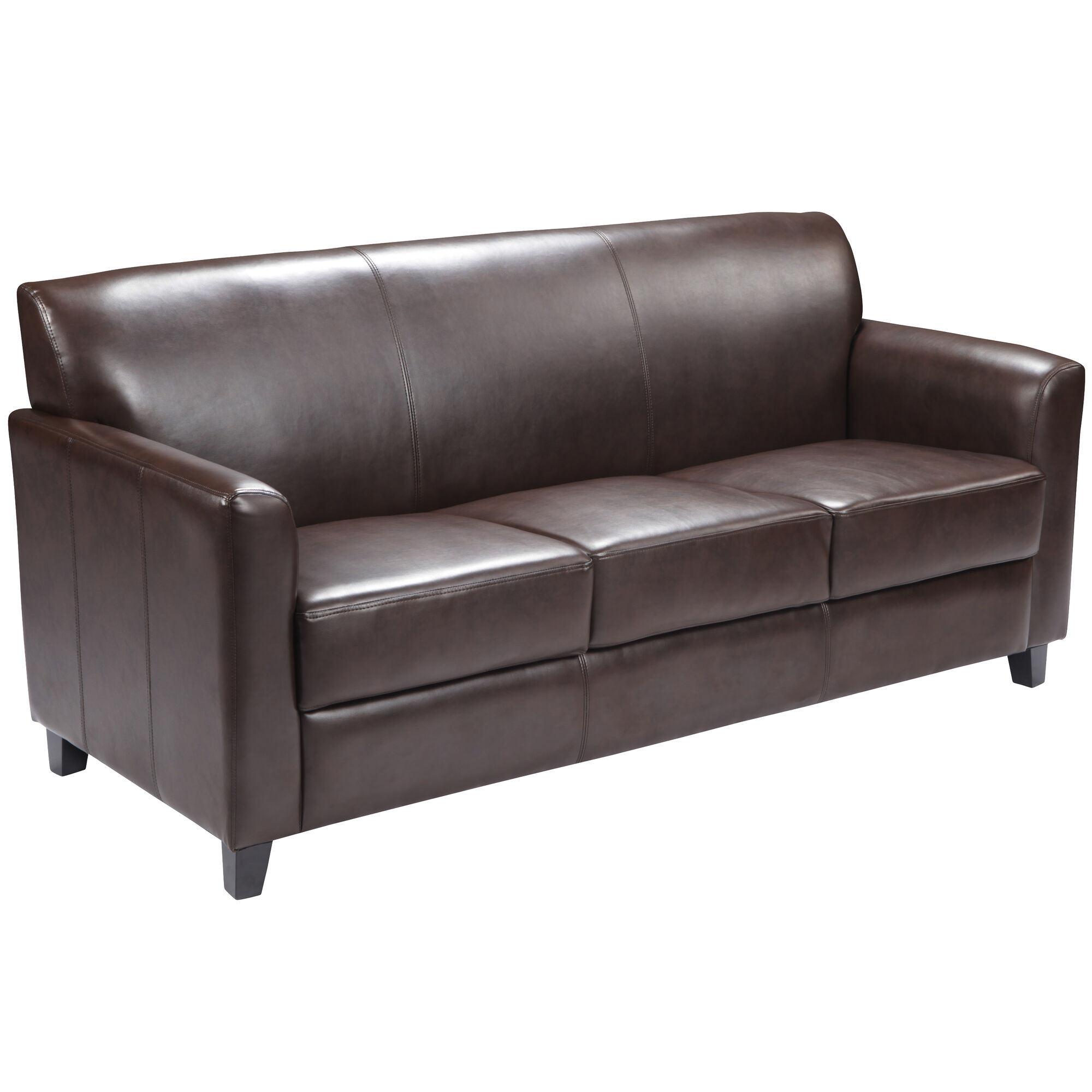 Swell Hercules Diplomat Series Brown Leather Sofa Camellatalisay Diy Chair Ideas Camellatalisaycom
