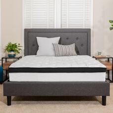 Capri Comfortable Sleep 12 Inch Memory Foam and Pocket Spring Mattress, Queen Mattress in a Box