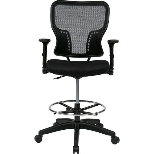 Our Space Deluxe Air Grid Back and Padded Mesh Seat Drafting Chair with 4-Way Adjustable Flip Arms and Adjustable Footring is on sale now.