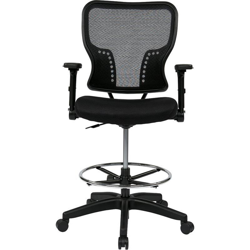 ... Our Space Deluxe Air Grid Back And Padded Mesh Seat Drafting Chair With  4 Way ...
