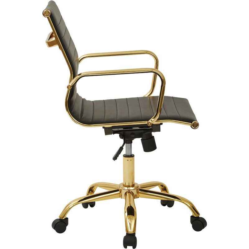 Product FL3836G-U6-OS video; Our Work Smart Mid Back Faux Leather Office Chair with Built-in Lumbar Support and ...  sc 1 st  Bizchair.com & Work Smart Leather Office Chair FL3836G-U6 | Bizchair.com
