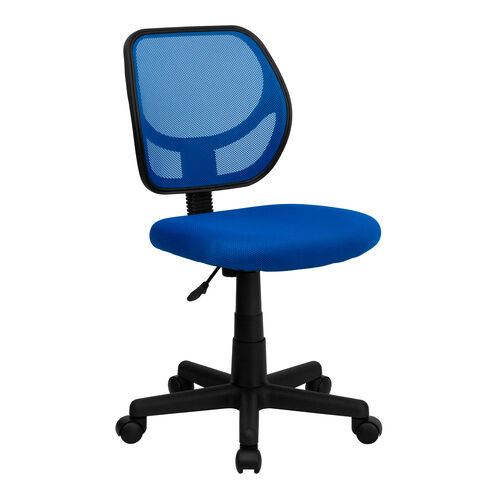 Our Low Back Blue Mesh Swivel Task Office Chair is on sale now.