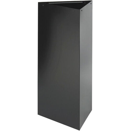 Trifecta® 21 Gallon Triangular Waste Receptacle - Black