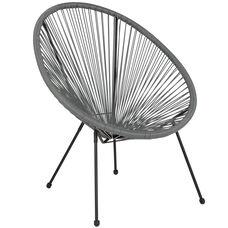 Valencia Oval Comfort Series Take Ten Grey Rattan Lounge Chair