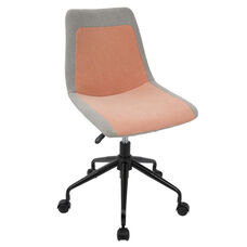 Orzo Height Adjustable Swivel Task Chair with Grey Accents - Orange
