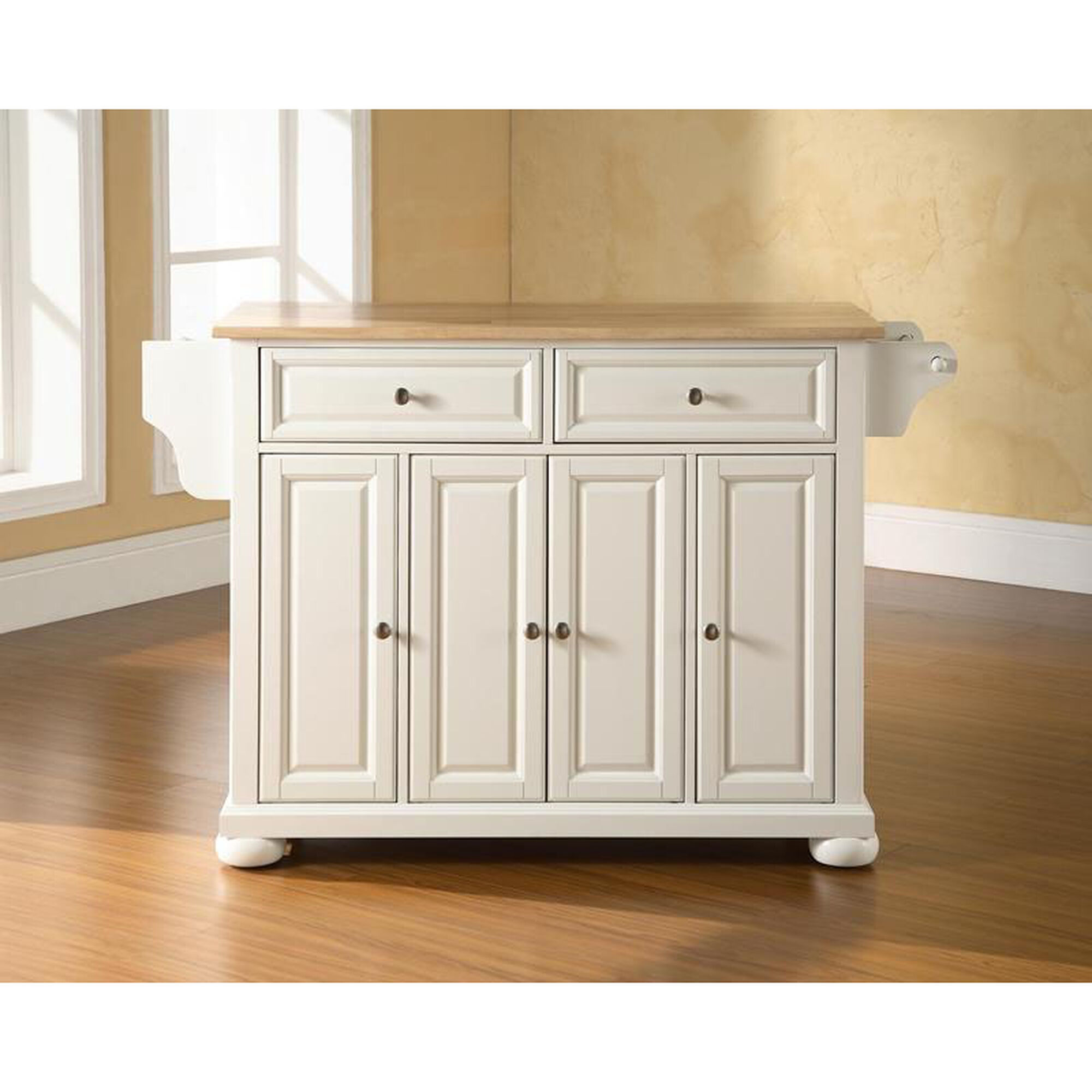 Our Natural Wood Top Kitchen Island With Alexandria Style