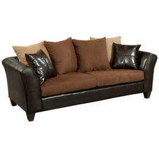 Riverstone Sierra Chocolate Microfiber Sofa