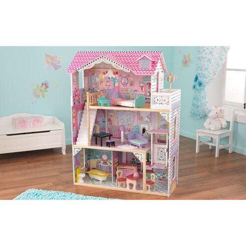 Our Annabelle Pink Girly Dollhouse for 12