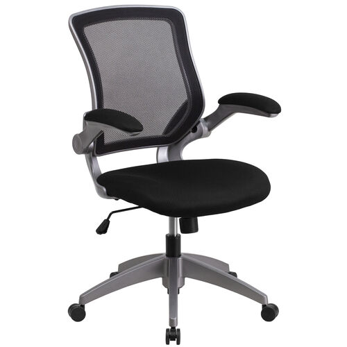 Our Mid-Back Mesh Swivel Ergonomic Task Office Chair with Gray Frame and Flip-Up Arms is on sale now.