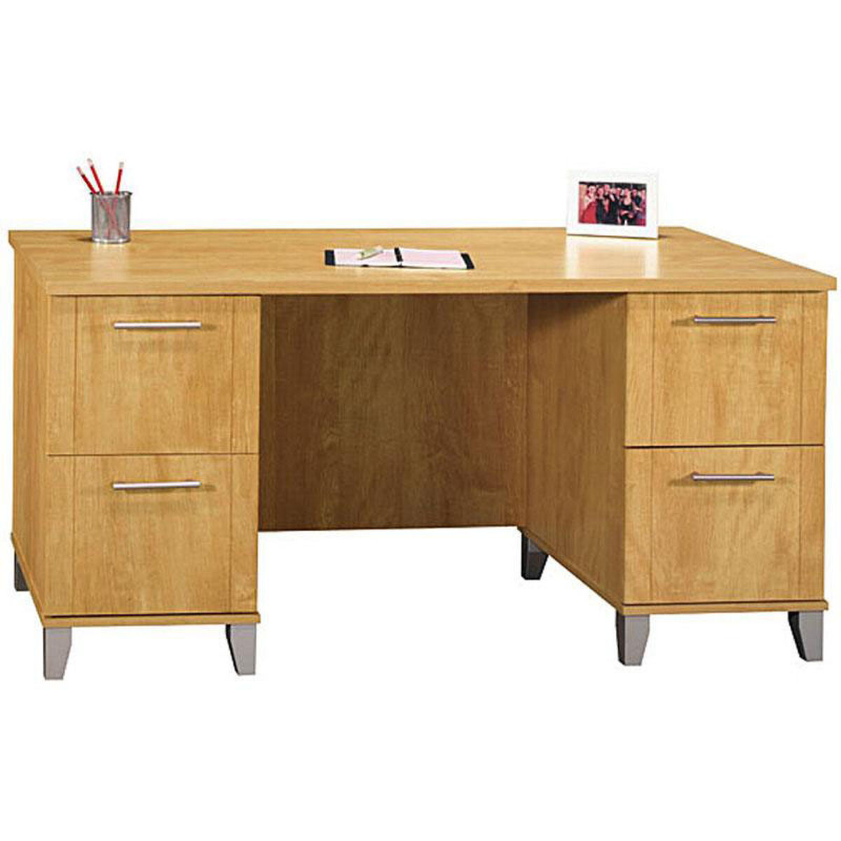 Bush home furniture somerset office desk maple cross for Home furnishing sites