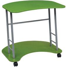 OSP Designs Kool Kolor Computer Desk with Casters - Green