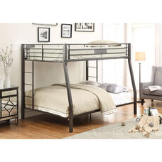 Limbra XL Full Over Queen Metal Bunk Bed - Black Sand