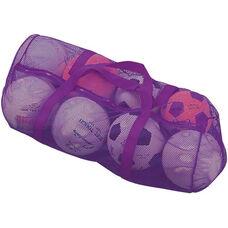 Mesh Duffel Bag in Purple