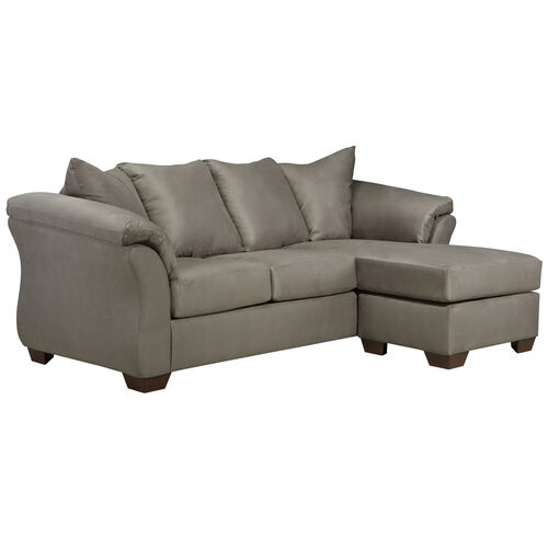 Our Signature Design by Ashley Darcy Sofa Chaise in Cobblestone Microfiber is on sale now.