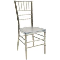 1000 lb. MAX Resin Steel Core Chiavari Chair - Set of 2 - Ice Crystal