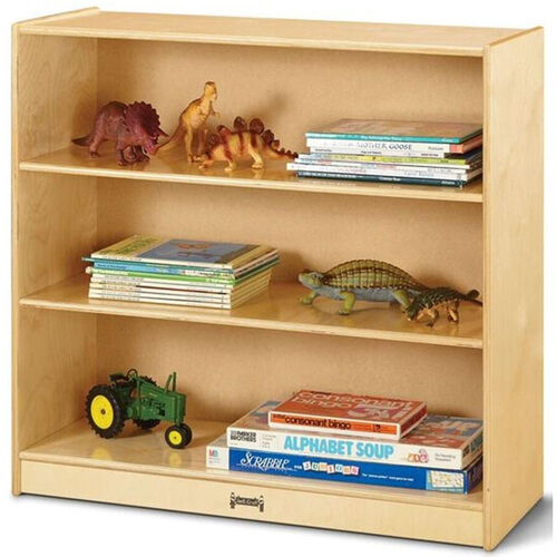 Our Tall Straight 3 Shelf Wooden Bookcase - 36