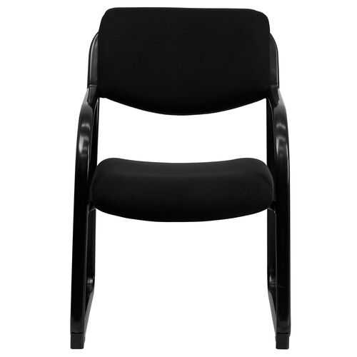 Basics Fabric Executive Side Reception Chair with Sled Base, Black